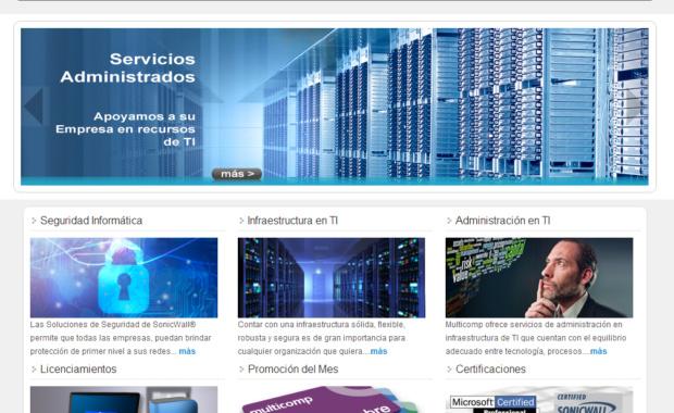 Sitio Web Multicomp.com.mx Diciembre 2012